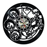 Kingdom Hearts Characters Unique Vintage Vinyl Wall Clock Gift