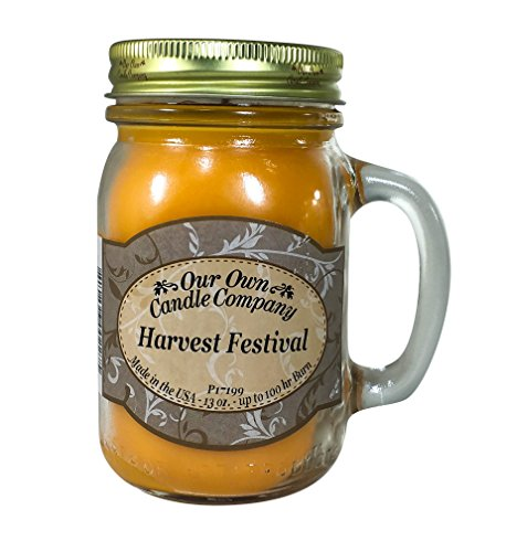 Our Own Candle Company Harvest Festival Scented 13 Ounce Mason Jar Candle