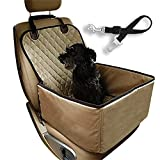 Dog Car Seat Cover Pet Booster Seat, C&D Deluxe 2 in 1 Dog
