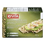 RYVITA Pumpkin Seeds and Oats Wholegrain Rye Crispbread, 10-Count