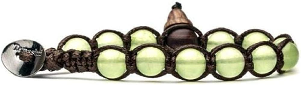 Pulsera original tibetana Tamashii fabricada con piedras naturales jade verde claro