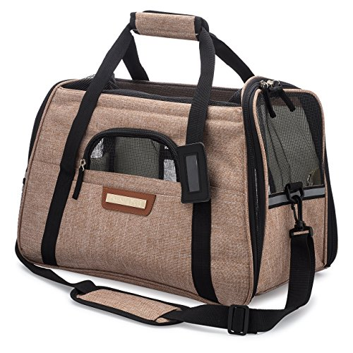 Priority Pets TSA Airline Approved Travel Pet Carrier with Mesh Top, Soft Mat and Sides | Tote Bag for Dogs and Cats ()