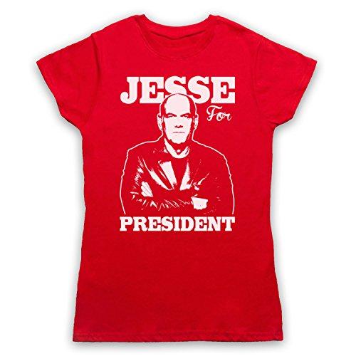 Jesse Ventura For President Camiseta para Mujer Rojo
