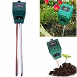 Soil Moisture Meter, 3 in 1 Light and pH/acidity Meter Plant Analyzer Tester Tool for Houseplants, Outdoor Plants, Bonsais, Succulents, Trees, Grass and Lawn (Square Head)