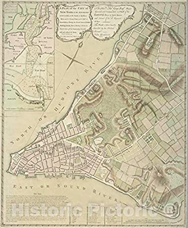 Map Of New York 1800.Amazon Com Historic 1775 Map A Plan Of The City Of New