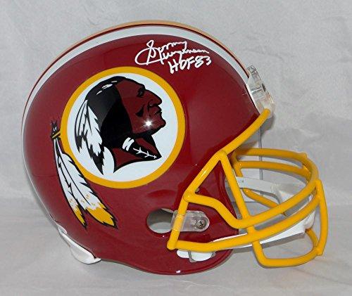 Sonny Jurgensen Signed F/S Redskins 78-03 TB Helmet W/ HOF- JSA W Auth White