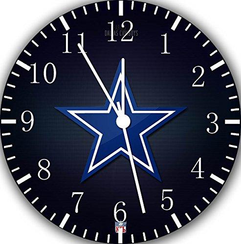 (Borderless Cowboys Frameless Wall Clock E132 Nice for Decor Or Gifts)