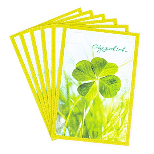 (Hallmark Pack of St. Patricks Day Cards, Shamrock (6 Cards with Envelopes))