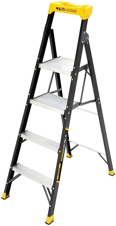 Escalera híbrida Gorilla de fibra de vidrio de 14 m con 250 lb. Capacidad de carga tipo I (comparable a 6 pies). Paso: Amazon.es: Electrónica