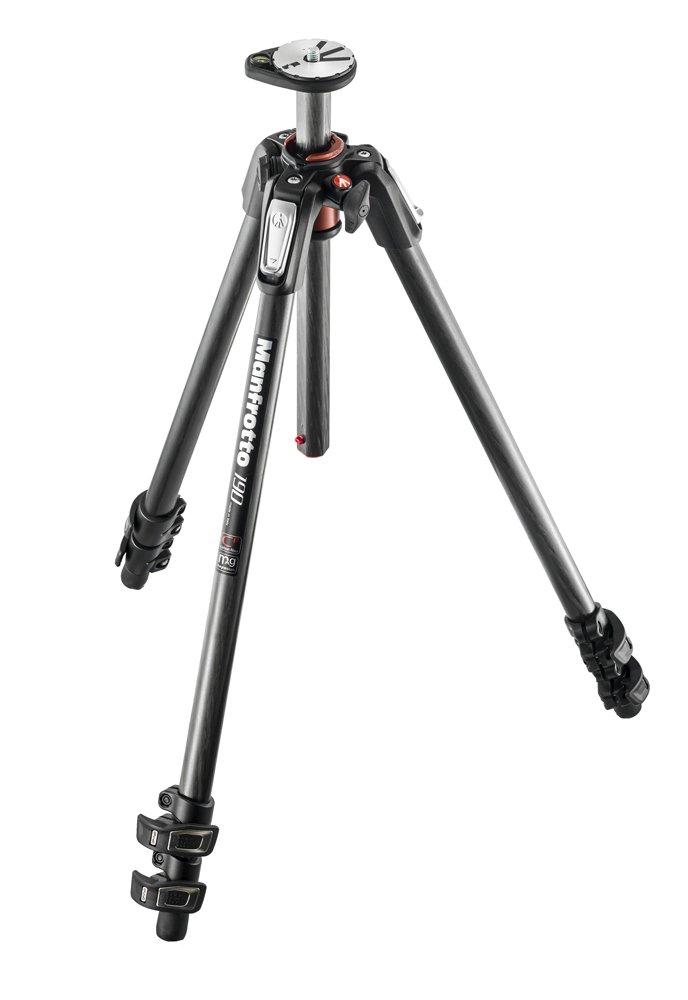 Manfrotto 190 Carbon Fibre 3-Section Camera Tripod