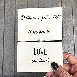 Long distance relationship gifts, distance love, Moving away gift, Compass bracelet, Love bracelet, Long distance gift, Boyfriend gift,