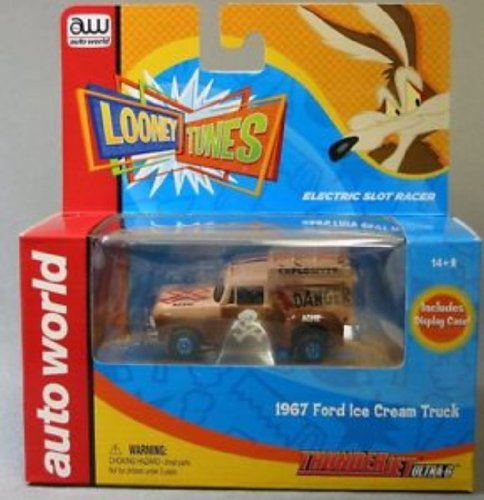 Auto World 255 1967 Ford Ice Cream Truck Brown Wile E. Coyote Thunder Jet Ultra G HO Slot Car (1967 Ford Trucks)