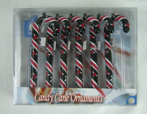 Forever Collectibles FBORNBKTCHICC Forever Candy Cane Ornament Box Set NBA- Chicago Bulls, Multicolor