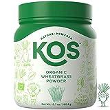 KOS Organic Wheatgrass Powder – Premium Raw Wheat Grass Juice Powder USDA Vegan