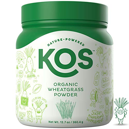 KOS Organic Wheatgrass Powder – Premium Raw Wheat Grass Juice Powder USDA Vegan Plant Based Ingredient, 360.4g (12.7oz)