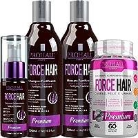 Prohall Cosmetic Force Hair - Kit Fortificante Crescimento Acelerado Completo (4 Produtos)