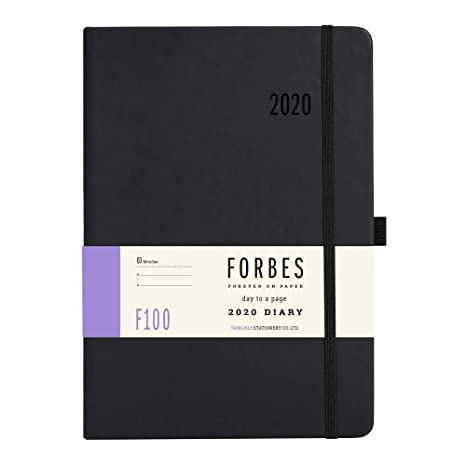 Forbes Classic 2020 - Agenda (tamaño A5, Tacto Suave), Color Rojo, Black Diary, A5