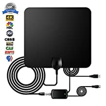 HDTV Antenna, 2018 ACELITE Indoor Amplified TV Antennas 60 Miles Range with Detachable Amplifier Signal Booster,1080P Full HD High Reception with USB Power Supply & 16.5FT Coax Cable