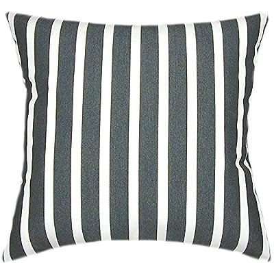 TPO Design, Sunbrella Shore Classic Indoor/Outdoor Striped Patio Pillow 20x20: Home & Kitchen