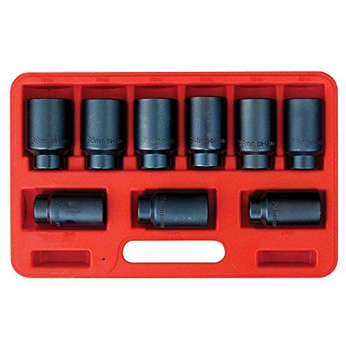 Rod Inner Tie Socket - OEMTOOLS 27188 Deluxe 6 Pt. Axle Nut Socket Set, 9Piece