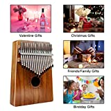 17 Keys Kalimba Thumb Piano, Protable Finger Piano