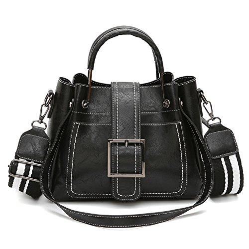 Girls Bag Handbag Shoulder Retro Bags Black Wild Women's Simple For Bags Bucket Crossbody aEPIaq