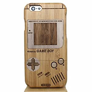 UCMDA High Quality Game Console Pattern Handmade Natural Wood Wooden Hard Bamboo Shockproof Case for iPhone 6 Plus 5.5 Inch