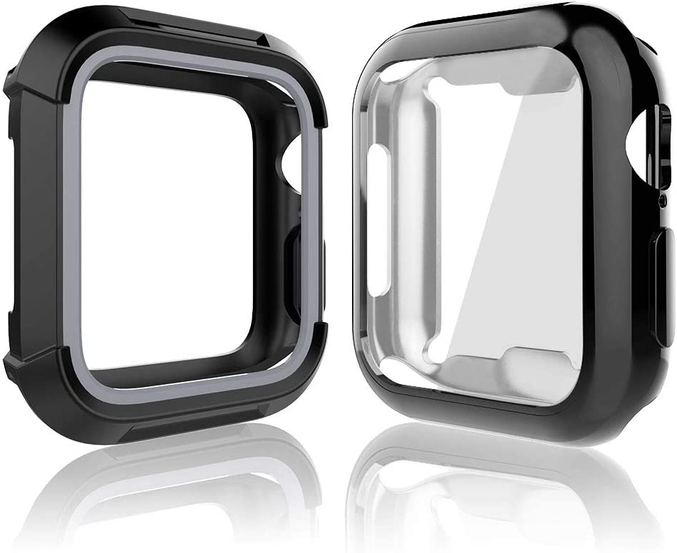 Compatible for iWatch 42mm Series 3 2 1 Case, Toward Rugged Shock Proof Bumper Cover with Soft TPU Screen Protector