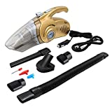 Car Vacuum, ARCHEER Handheld Auto Car Vacuum Cleaner Wet/Dry 12V 100W Multi-Use Dust Buster Hand Car Vac Pet Hair Cleaner with Built-in Pressure Gauge, LED Flashlight and Inflator Function