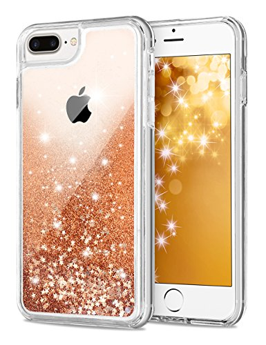 - iPhone 7 Plus Case, Aemotoy Funny Glitter Quicksand Dynamic Flowing Floating Liquid Bling Sparkle Hard PC with Soft TPU Bumper Cover Case for Apple iPhone 6 plus/6s Plus/7 Plus/8 Plus 5.5