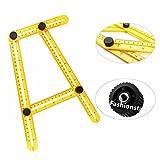 (US) ASDOMO Angle-izer Template Tool, Multi-Angle Measuring Ruler, General Angleizer Template Ruler for Handymen Builders Craftsmen