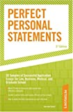 Perfect Personal Statements, Mark Alan Stewart and Peterson's Magazine Staff, 0768917158