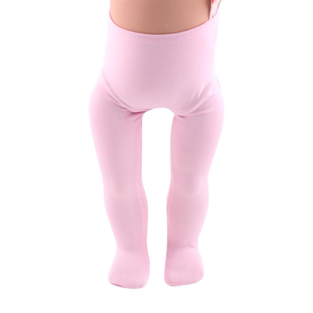 Mingfa 18 inch Doll Leggings Pants Doll Accessories for Our Generation American Girl Boy (yellow) Mingfa.y