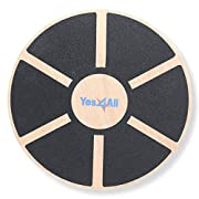 #LightningDeal Yes4All Wooden Wobble Balance Board – Exercise Balance Stability Trainer 15.75 inch Diameter