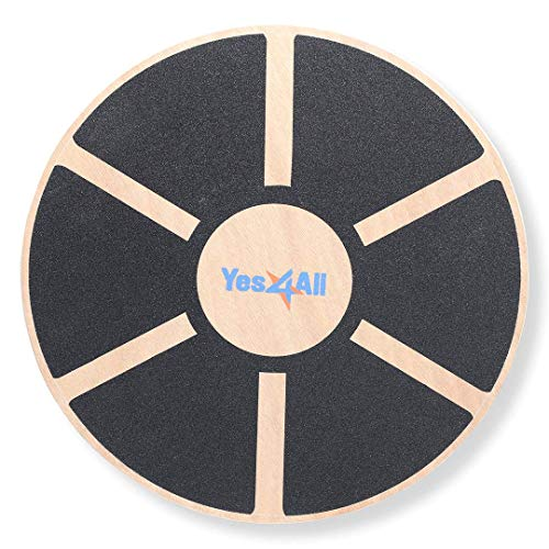 Yes4All Wooden Wobble Balance Board - Exercise Balance Stability Trainer 15.75 inch Diameter from Yes4All