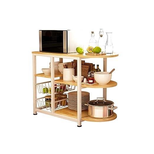 JIANPING Rack de cocina Horno de microondas 3 capas + 3 capas Mesa ...