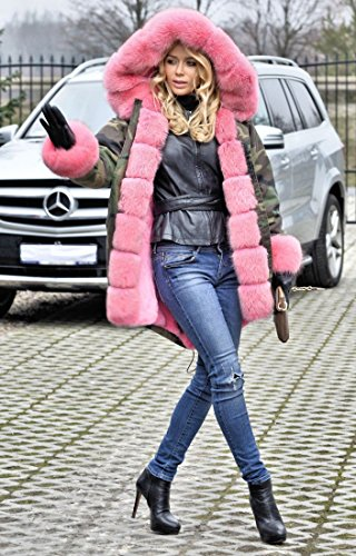 4fd35bf1341 Roiii Women Casual Vintage Faux Fur Hooded Grey Warm Thick Ladies Jacket  Coat Size S-