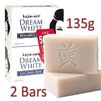 KOJIE SAN SOAP, ALL VARIANTS, FREE SHIPPING (DREAM WHITE WHITENING SOAP 2X135GRAMS)