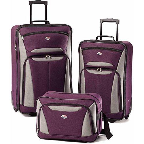 American Tourister Luggage Fieldbrook II 3 Piece Set, Purple (3 Tourister Piece American)