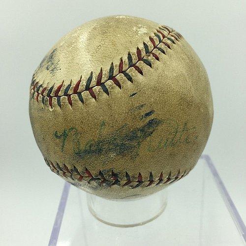 1928 Babe Ruth Single Autographed American League Baseball – JSA Certified