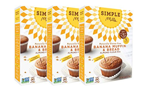 - Simple Mills Almond Flour Mix, Banana Muffin & Bread, 9 oz, 3 count