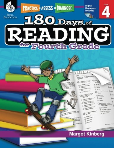 180 Days of Reading: Grade 4 - Daily Reading Workbook for Classroom and Home, Reading Comprehension and Phonics Practice, School Level Activities Created by Teachers to Master Challenging Concepts -