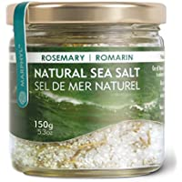 Natural Rosemary Sea Salt/Fleur de Sel - Organic - Manually harvested in Vancouver Island, Canada