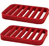 Norpro Rectangle Silicone Roasting Rack, Red(2pk)