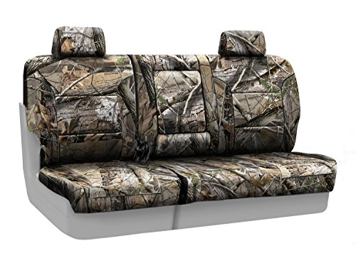 Coverking Rear 60/40 Bench Custom Fit Seat Cover for Select Chevrolet Silverado Models - Neosupreme (Realtree AP Camo Solid)