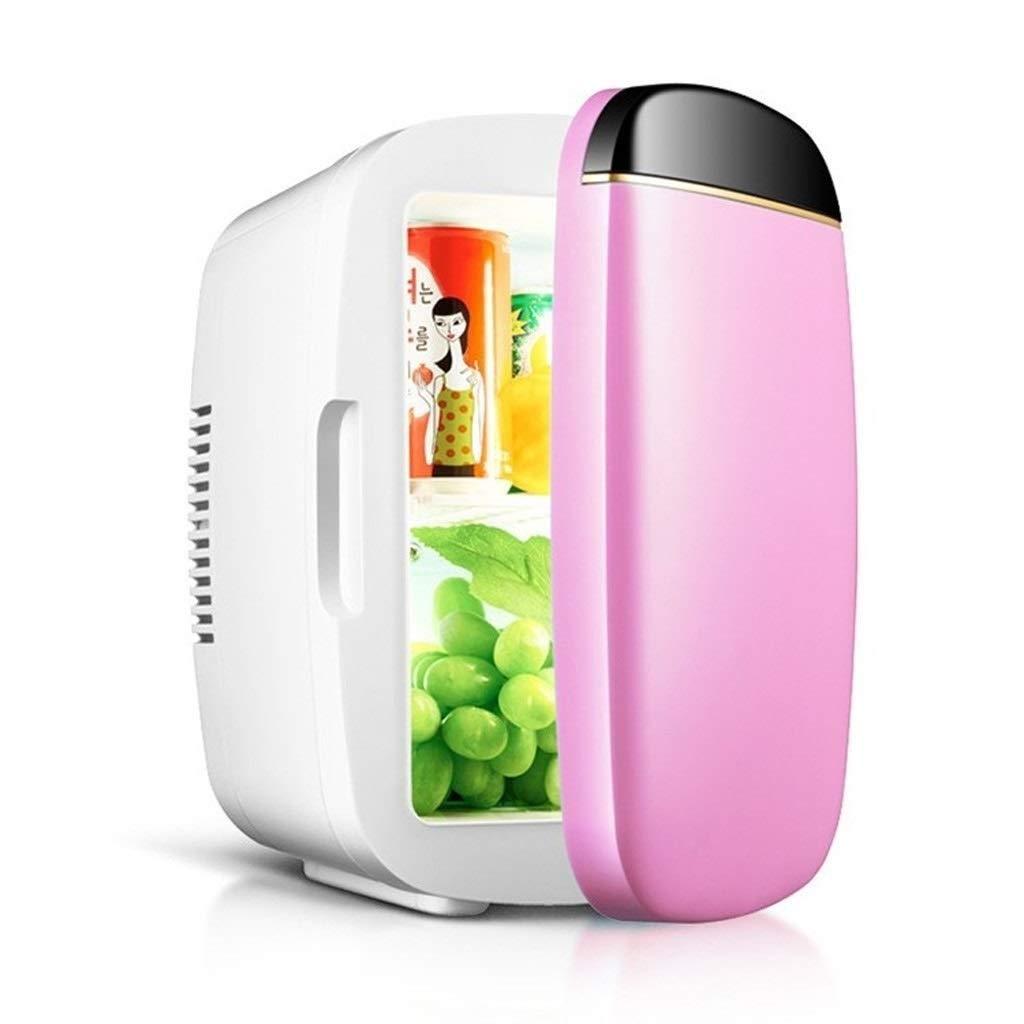 JGWJJ Mini Fridges Small Refrigerator - 6 Liter - 100% Freon-Free & Eco Friendly Car Small Refrigerator Mini Small Household Single Door Type Small Refrigerator (Color : Pink) by JGWJJ