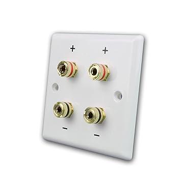 Dynavox Altavoz Caja de montaje en pared 2 zócalos, blanco para 2 altavoz: Amazon.es: Electrónica