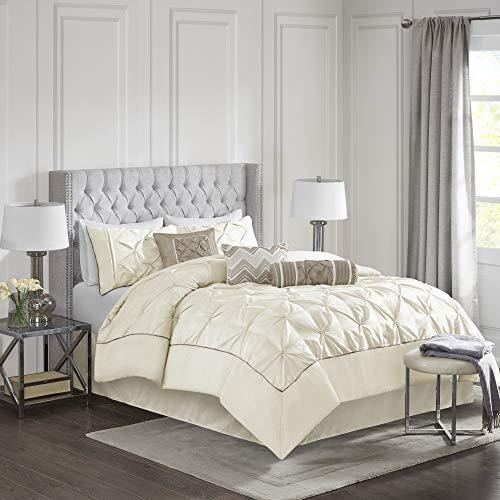 Madison Park Laurel 7 Piece Comforter Set-Ivory-King (Madison Park Lafayette 7 Piece Comforter Set)