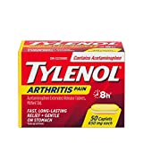 Tylenol Arthritis Pain Reliever Acetaminophen 650mg, Fast & Long Lasting Arthritis, Muscle & Joint Pain Relief, 50 Caplets