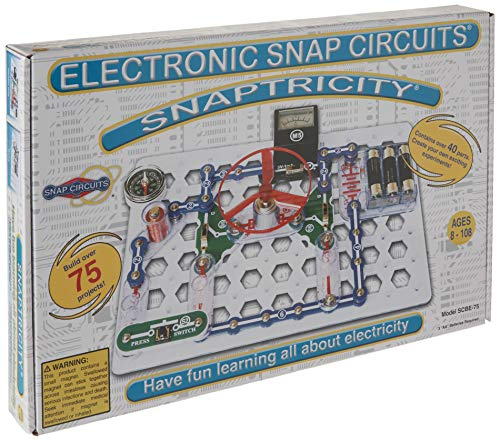 Snap Circuits Snaptricity Electronics Exploration Kit | Over 75 STEM Projects | 4-Color Project Manual | 40 Snap Modules | Unlimited Fun -